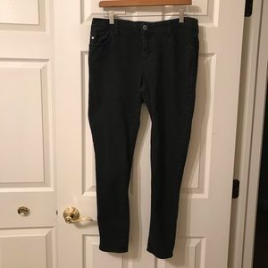 Elle Size 12 Regular Black Denim Jeans